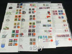 Huge Dealer Stock Lot of 600+ Switzerland FDC First Day Covers 1950s-1980s Nice