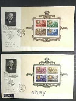 Hungary #B198A-D+CB1A-D S/S FDC EUR360 47. VII. 21 CDS Budapest to New York FDR