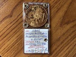IMPERO AUSTRIACO FRANCESCO GIUSEPPE 4 DUCATI 1915 13,96 gr ORO 986 FDC SUBALPINA