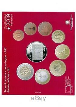 ITALIA 2019 SET COMPLETO FDC 9 monete DIVISIONALE CESARE MACCARI con 5