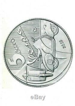 ITALIA 2019 moneta da 5 EURO Argento FDC VESPA Eccellenze Italiane BIANCA
