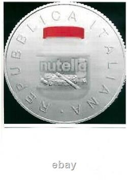 ITALIA 2021 moneta da 5 EURO Argento FDC NUTELLA ROSSA