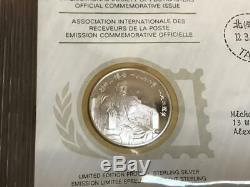 International Society Of Postmasters First Day Covers 35 Sterling Silver Proof