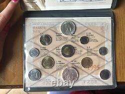 Ipzs Repubblica Italiana 1995 Serie 11 Monete 500 1000 Lire Argento Fdc Mascagni