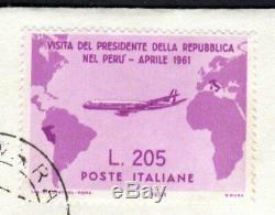 Italia 1961 Gronchi Rosa FDC Cavallino / 1° giorno di emissione rara