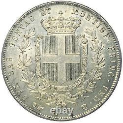 Italia / Italy Vittorio Emanuele II 5 Lire 1856 Torino RR FDC