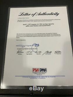 JACK NICKLAUS & ARNOLD PALMER Signed 8x10 Photo Framed 11x14 PSA/DNA MASTERS FDC