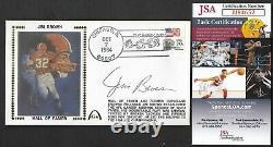 Jim Brown JSA Autographed Rushing Record Broken Gateway Stamp Envelope Postmark