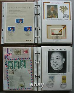 Karton ca 11,8kg mit ca 700 Belegen in 8 Alben GA ETB FDC SB Briefe