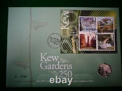 Kew Gardens 2009 50p Coin BU In Royal Mint First Day Cover