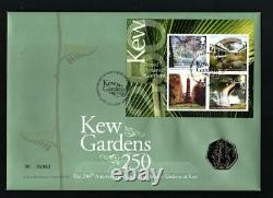 Kew Gardens 2009 50p Coin (uncirculated) BU In Royal Mint First Day Cover. BU