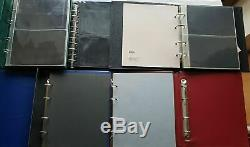 Kiste mit 30x Alben FDC Briefe ETB teils mit Hüllen und 3 Kassetten