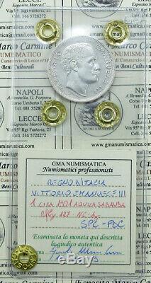 L19/179 Vitt. Eman. III 1 LIRA 1901 Aquila Sabauda ottimo SPL-FDC periziato