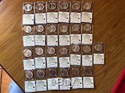 LOTTO 25 MONETE REPUBBLICA 500 LIRE dal 1968 al 2001 CARAVELLE FDC ARGENTO