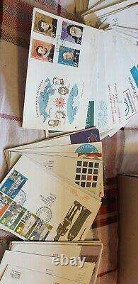 Large bundle 972 First Day Covers FDC GB Used Postage Stamps Collection mint