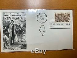 Lincoln Stamps (9) First day of Issue on Illustrated Envelopes 1945-1960 Mint