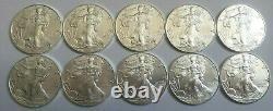 Lot de 10 pièces de 1 dollar silver eagle FDC liberty