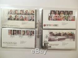 Lot x 44 Great Britain First Day Covers Commemorative 2012 2015 In An Album