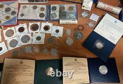 Lotto Di monete in Lire, Divisionali E 500 E 1000 Lire In Argento tante fdc