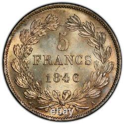Louis-Philippe 5 Francs 1846 Paris Splendide à FDC Brillant de frappe