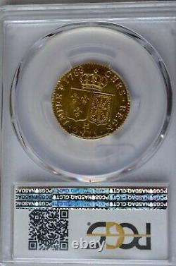 Louis d'or Louis XVI 1788 / 7 H La Rochelle NVA au lieu de NAV PCGS MS64 RRR FDC
