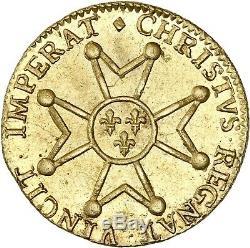 Louis d'or à la croix du Saint-Esprit 1718 Lille SPL/FDC PCGS MS63