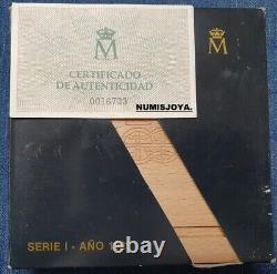 MONEDA de 10000 PESETAS V CENTENARIO año 1989 FDC brillo. Peso 168,75 gr. 73 mm