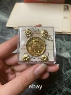 MONETA ORO REGNO D' ITALIA 100 LIRE PRORA 1931 ANNO IX sigillata SPL/FDC
