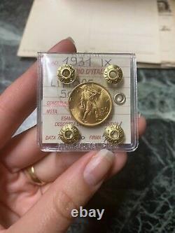 MONETA ORO REGNO D' ITALIA 50 LIRE LITTORE 1931 ANNO IX sigillata FDC