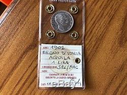MONETA REGNO D' ITALIA AQUILA 1 LIRA 1902 sigillato SPL/FDC SUBALPINA