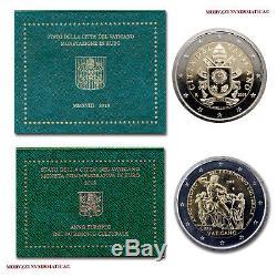 MORUZZI Vatican Série officielle 2018 FDC + 2 EURO commémorative 2018 FDC