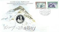 MOUNT EVEREST Signed 25th Anniversary First Day Cover stamped 29th May 1978