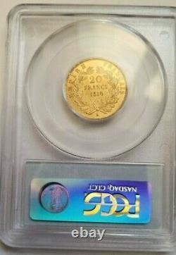 Magnifique pièce de 20 francs or 1856 A Napoleon III PCGS MS 64 FDC