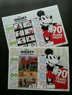 Malaysia 90 Years Of Mickey Mouse 2018 Walt Disney FDC Folder set MNH official