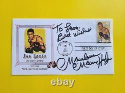 Marvin Hagler Boxer Marvelous Marvin! Signed Joe Lewis postal FDC RARE