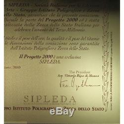 Medaglia Titania per Anno 2000 Oro Titanio e Diamanti (IPSZ) FDC LOT2080