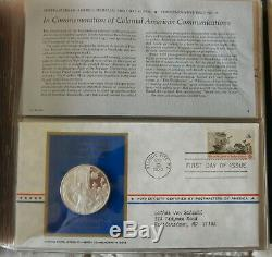 Medallic First Day Covers 1973 Postmasters Of America 16 Sterling Silver Ingots