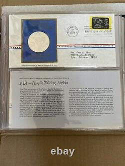 Medallic First Day Covers Postmasters of America Stamps 1972