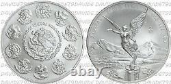 Messico 2 Onzas Plata 2 Once Argento Anno 1996 Fdc