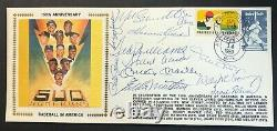 Mickey Mantle Ted Williams Willie Mays Aaron +8 Signed Gateway Stamp Envelope