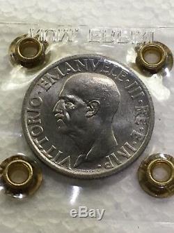 Moneta da 1 Lira 1936 IMPERO RARA FDC periziata Erpini Gianfranco