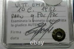 Moneta da 10 CENTESIMI 1932 APE Regno d'Italia V. E. III Periziata Erpini fdc