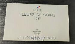 Monnaie de Paris Coffret Fleur de Coin FDC 1987 12 pièces