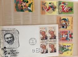 More than 2,000 Disney stamps, 8 albums + First Day Covers