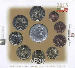 NEW! Euro ITALIA 2015 Folder Ufficiale 10 monete FDC Filippo Neri