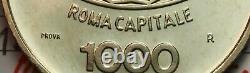 NL ITALIA 1000 Lire 1970 PROVA IN ARGENTO Roma Capitale FDC Perizia Filisina
