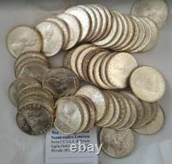 NL ITALIA 500 Lire Argento 3 CARAVELLE 1967 lotto 10 Pezzi da Rotolino FDC