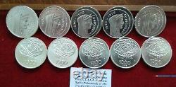 NL ITALIA LOTTO di 10 Pezzi di 1000 Lire Argento 1970 ROMA C. FDC da Division