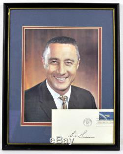 Nasa Signed Virgil Gus Grissom Autographed Mercury 7 Fdc Cover + Photo