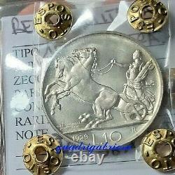 Nc 10 Lire 1929 Biga Fdc Periziataestremamente Rara